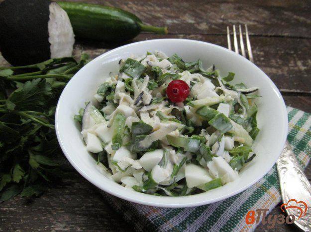 Салат с редькой и курицей