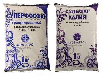 Удобрение саженцев сульфатом калия