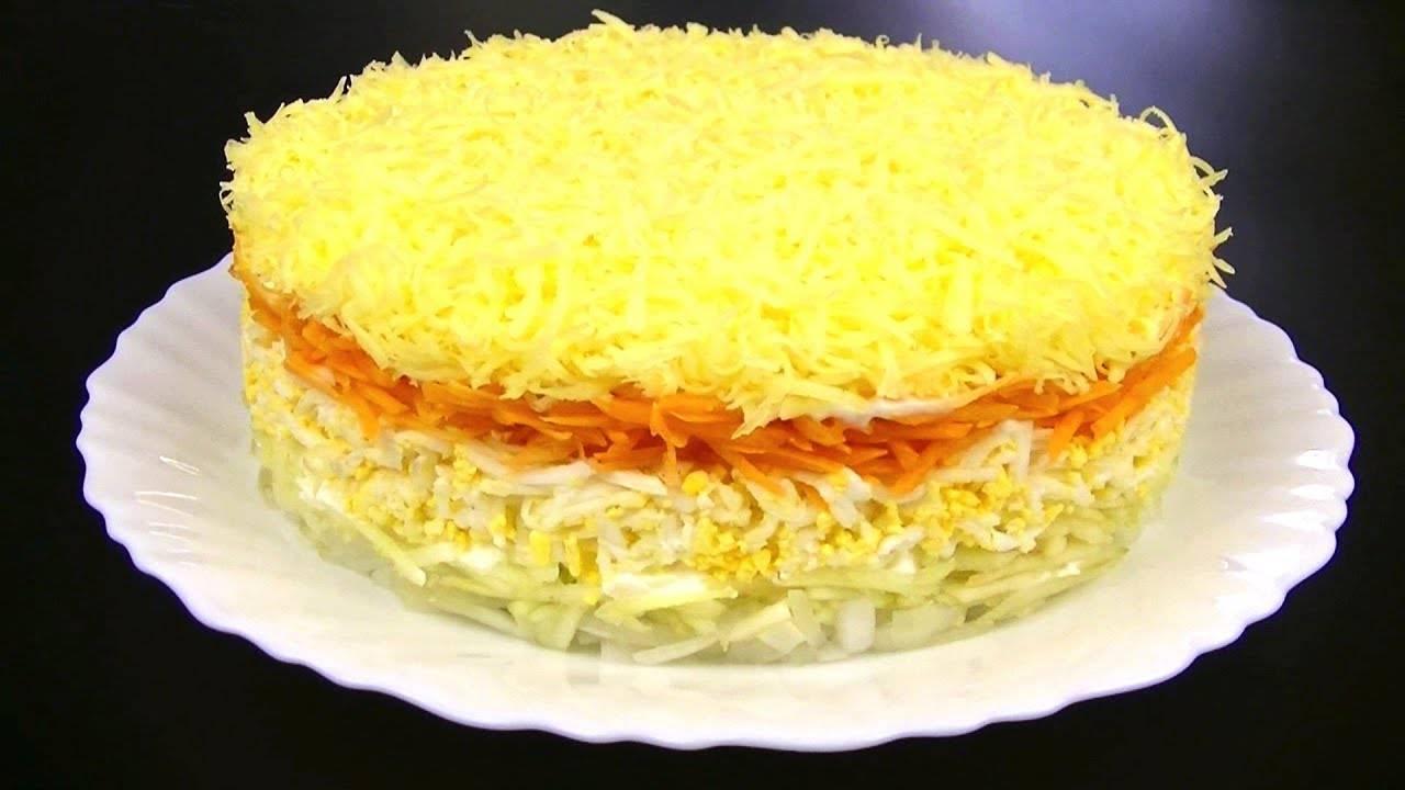 Салат с яблоком и сыром и яйцом