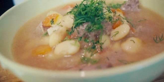 Суп с красной фасолью консервированной