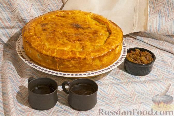 Сладкая татарская губадия — рецепт с фото приготовления пирога с рисом и изюмом