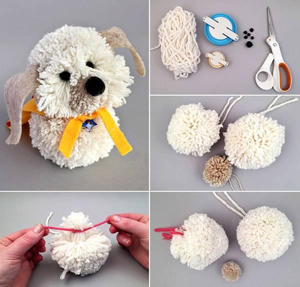 Делаем новогоднюю игрушку-собаку своими руками