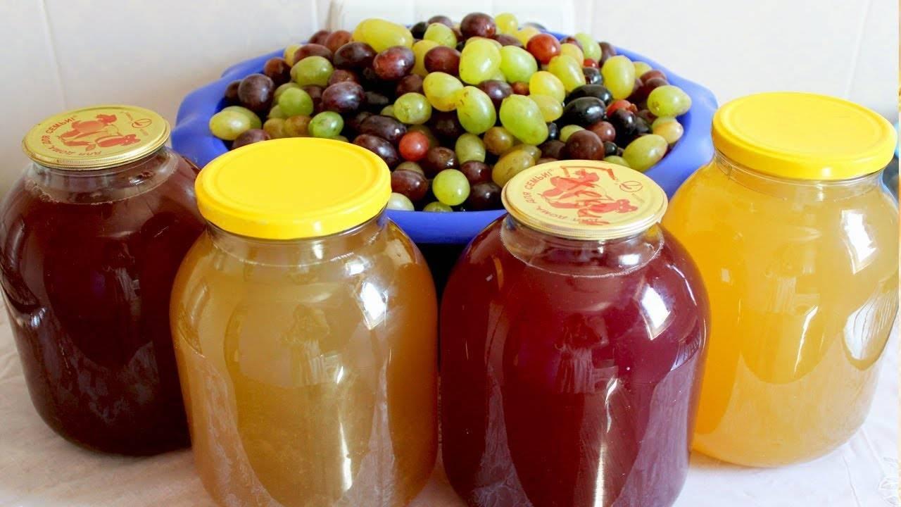 Рецепт сока из винограда в домашних условиях. яблочно-виноградный сок на зиму. виноградный сок на зиму в домашних условиях «ручной отжим»
