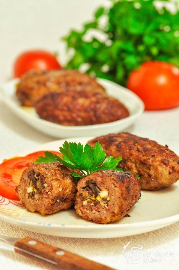Мясные зразы с яйцом — лучшие пошаговые рецепты