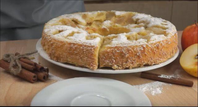 Пышная шарлотка с яблоками на кефире — лучшие способы приготовления в духовке
