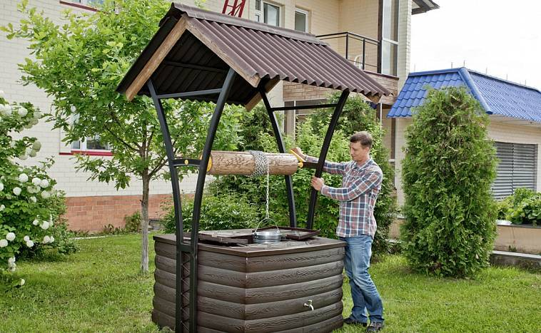 Как сделать колодец на даче своими руками: от выбора местоположения сооружения до декора
