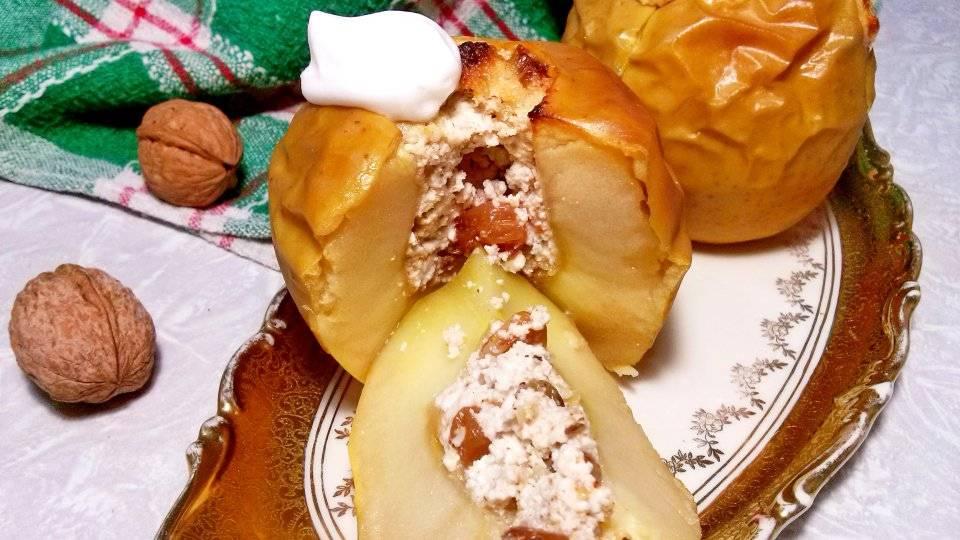 15 рецептов запечённых яблок с орехами, карамелью, сыром и не только