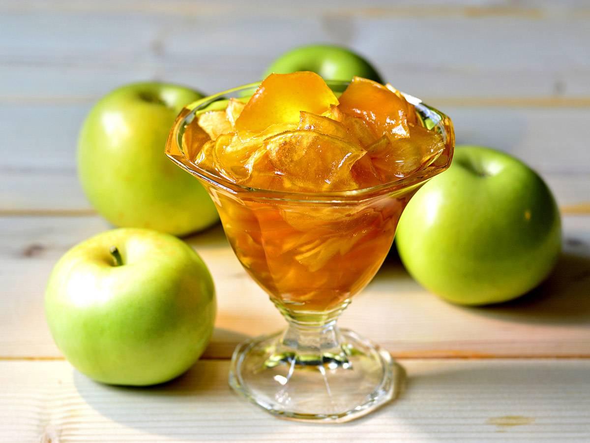 Варенье из яблок дольками прозрачное на зиму