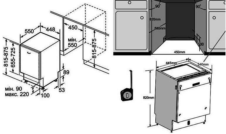 Самостоятельная установка и подключение посудомоечной машины к коммуникациям: распишем суть