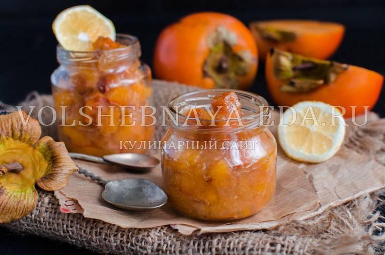 Варенье из хурмы с яблоками. вкусный и полезный десерт — джем из хурмы