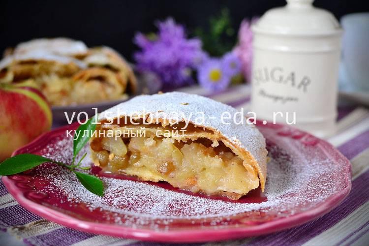 Пирог-штрудель — рецепт приготовления австрийского пирога, видео