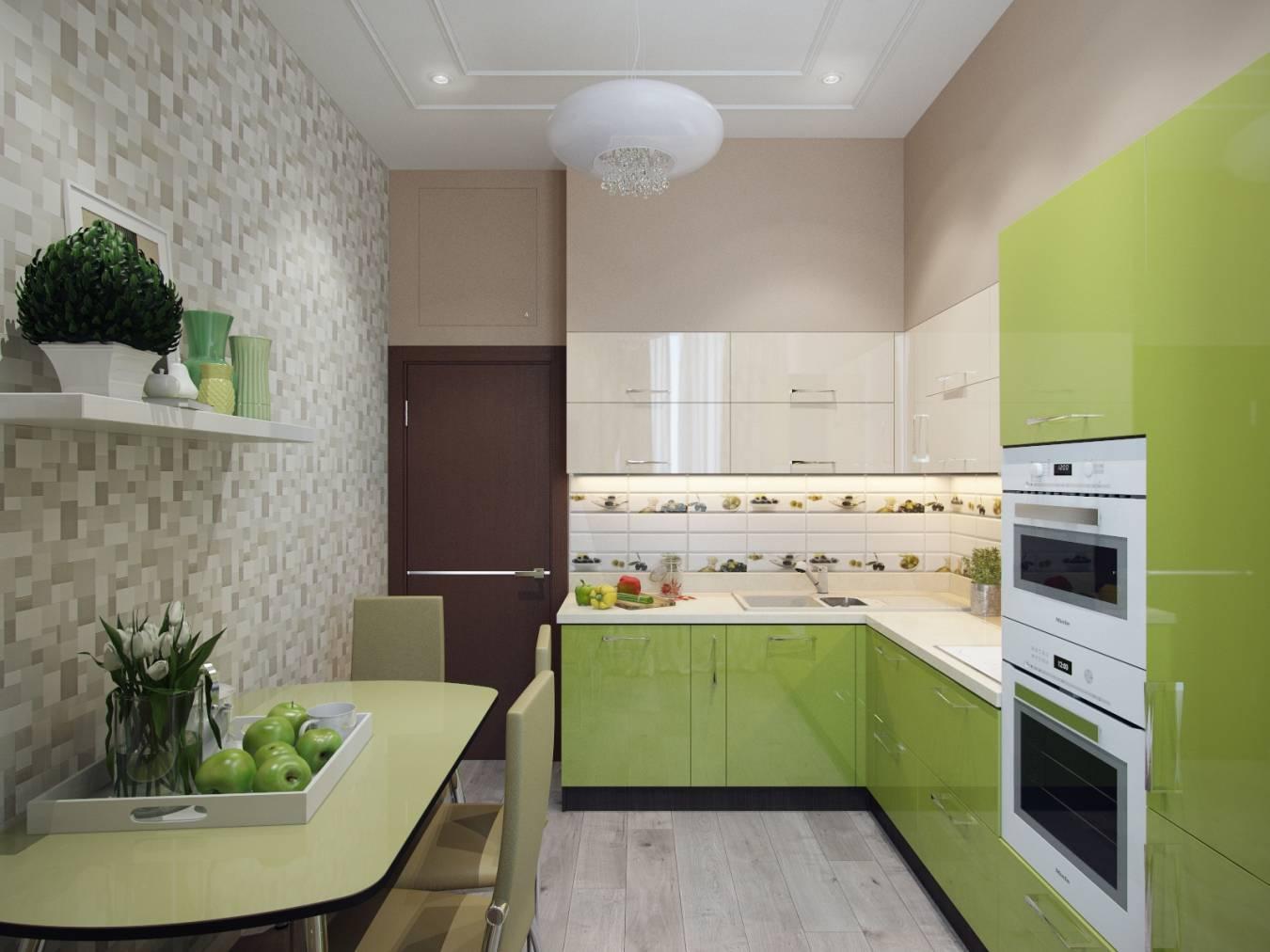 Обои на кухню: критерии выбора, правила сочетания с мебелью, табу и исключения (+ 54 фото)
