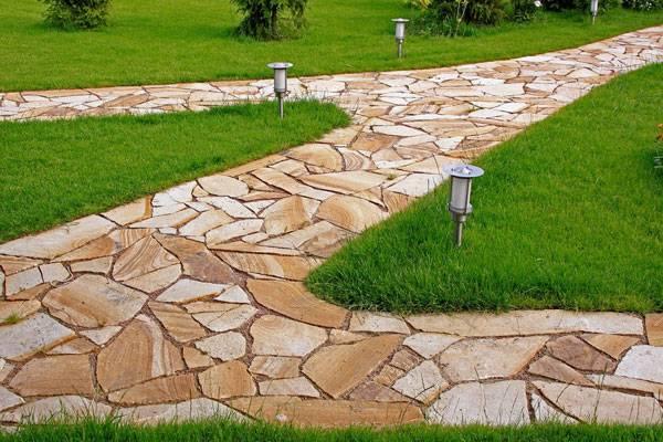 Садовые дорожки из природного натурального камня своими руками