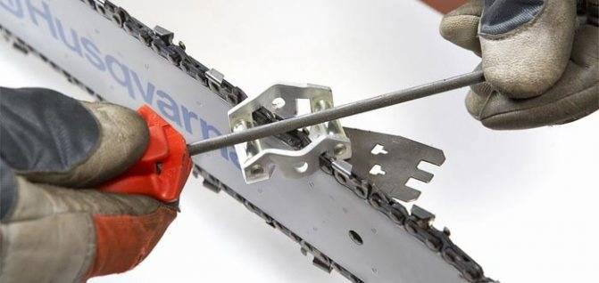 Как в домашних условиях наточить цепь бензопилы