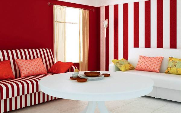 Подбираем обои двух цветов для гостиной: фото, методики и варианты стильного декорирования
