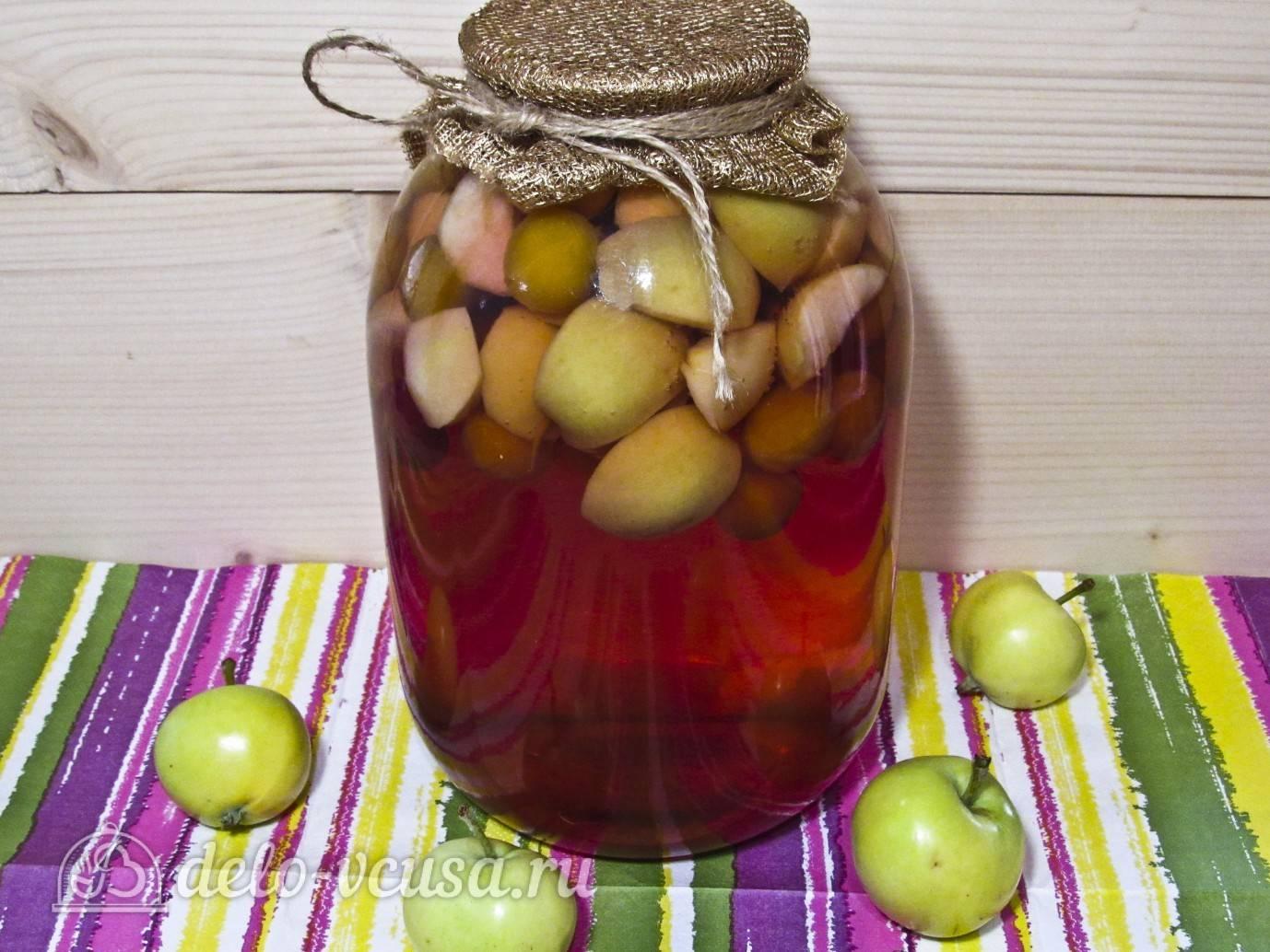 Компот из яблок с черноплодной рябиной