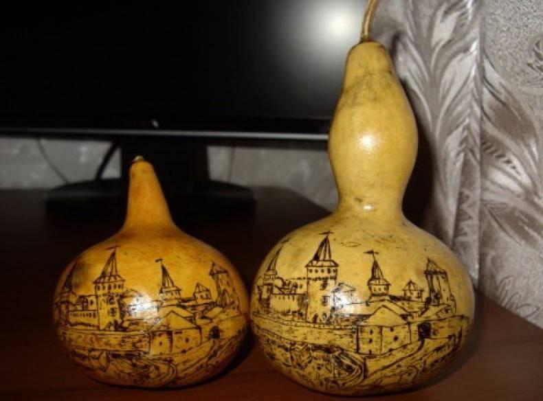 Поделки из лагенарии своими руками — посуда, сувениры, видео