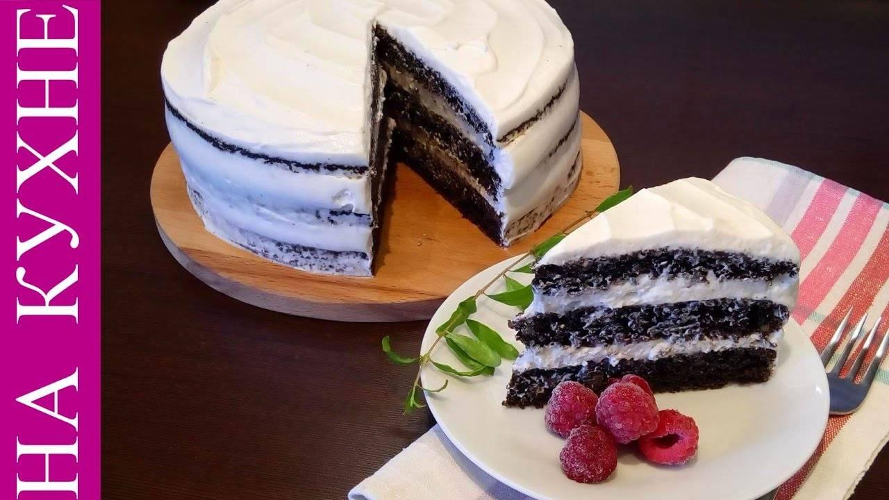 Торт с черемухой со сметанным кремом