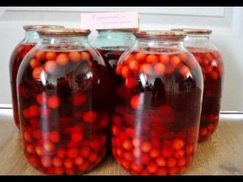 Компот иззамороженных ягод