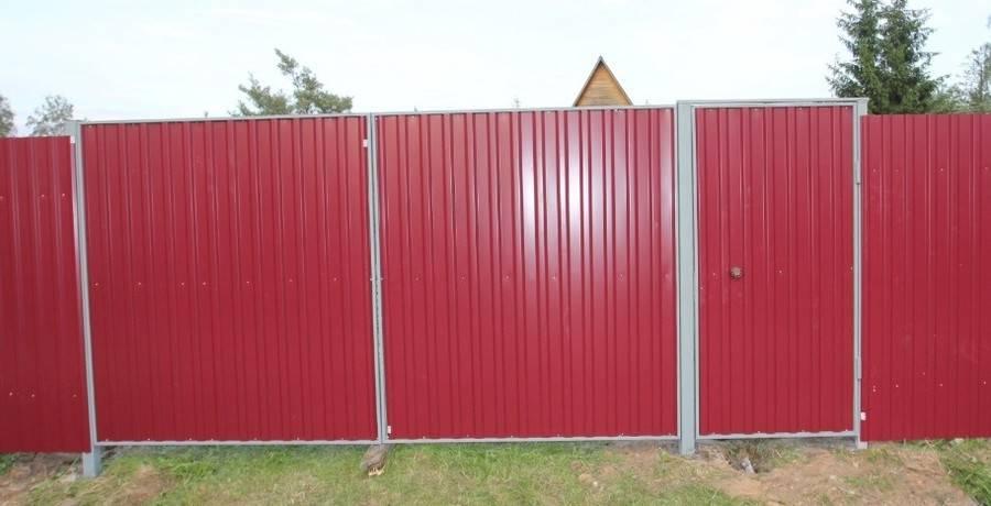 Монтируем деревянные распашные ворота своими руками: инструкция — обзор +видео