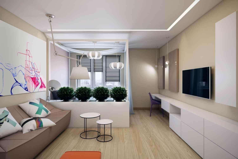 Оформляем прихожую совмещенную с гостиной – правила зонирования