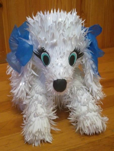 Поделка собака своими руками из ткани. игрушка собака, связанная крючком
