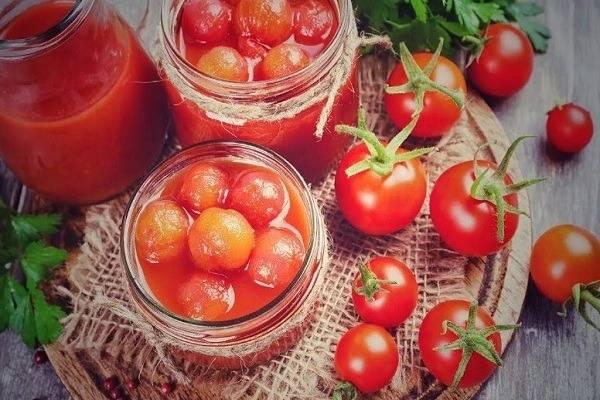 Как консервировать помидоры черри