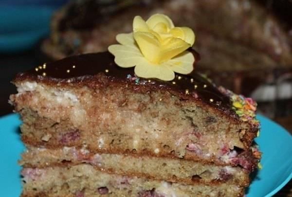 Торт трухлявый пень на кефире