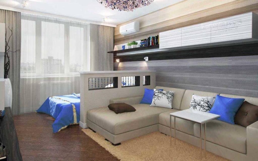 Выбор дизайна спальни-гостиной в одной комнате
