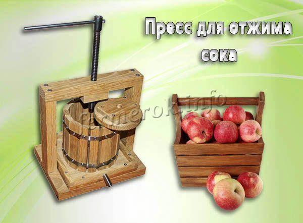 Самодельный пресс для яблок и винограда