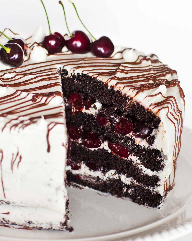 Домашний торт «пьяная вишня»