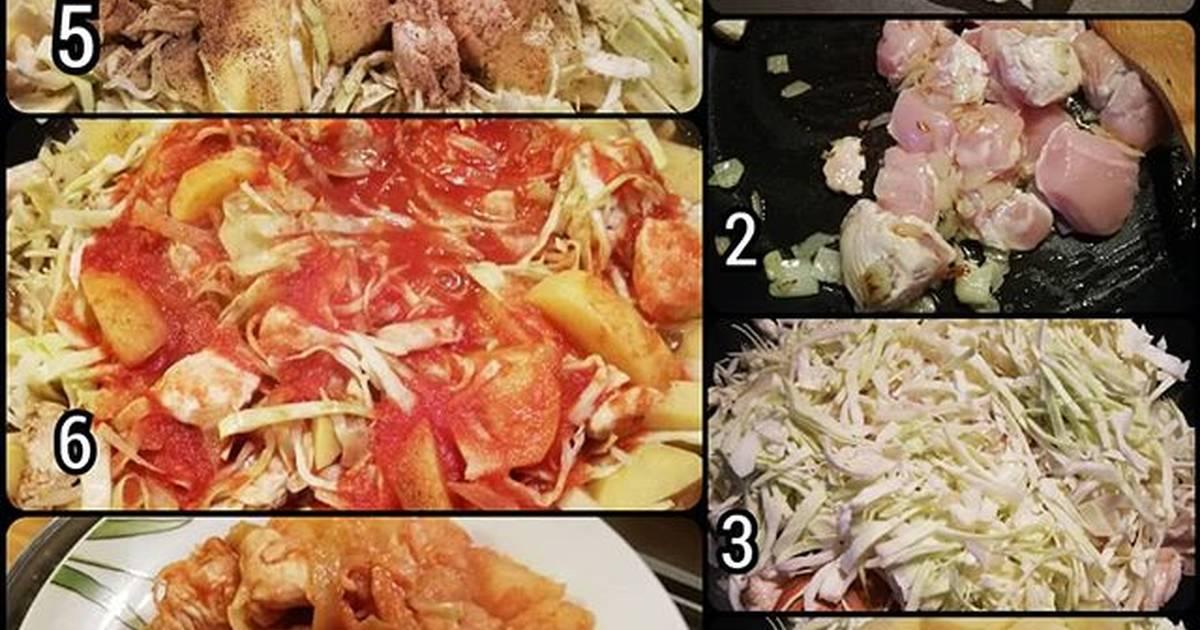 Тушеная капуста с картошкой – 10 очень вкусных рецептов с фото пошагово