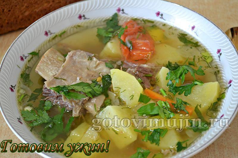Суп рисовый с мясом и картошкой