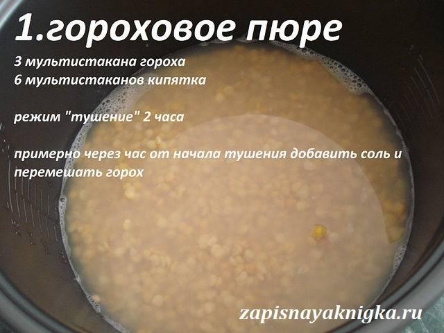 Гороховый суп в мультиварке (7 вариантов рецепта)