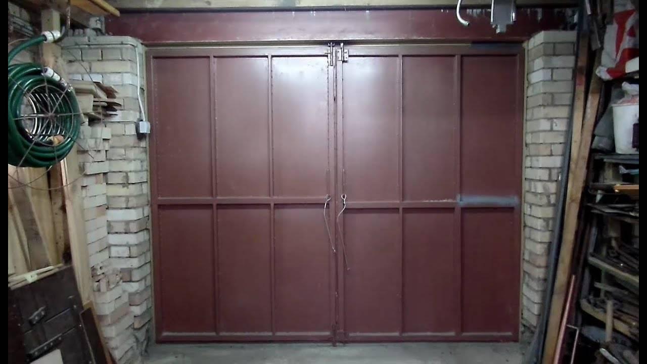 Изготовление распашных гаражных ворот своими руками