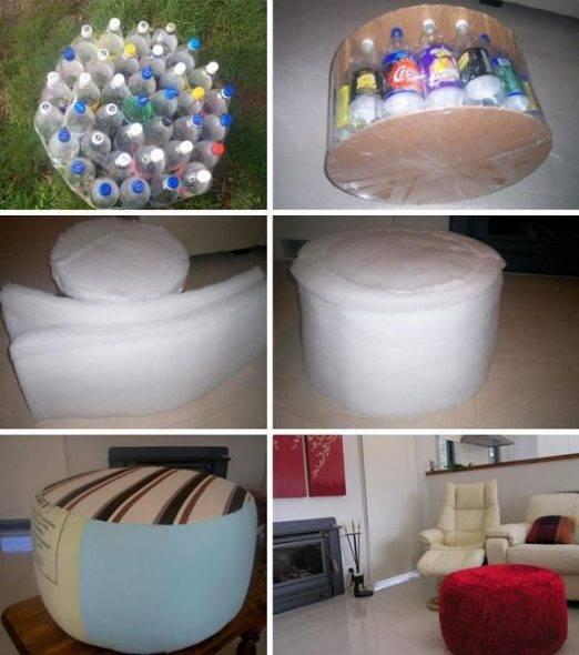 Мебель из бутылок пластиковых. мастер-класс по мебели из пластиковых бутылок своими руками с видео
