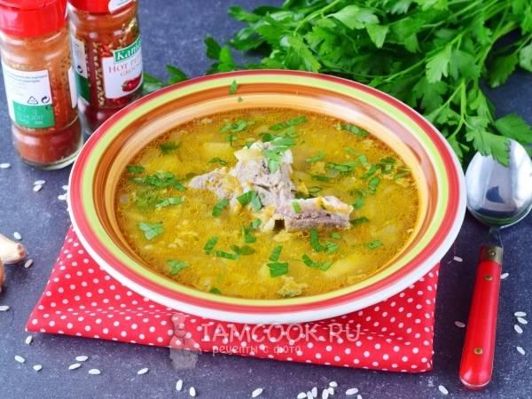 Суп рисовый с курицей и картошкой