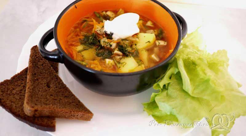 Суп из шампиньонов с картофелем