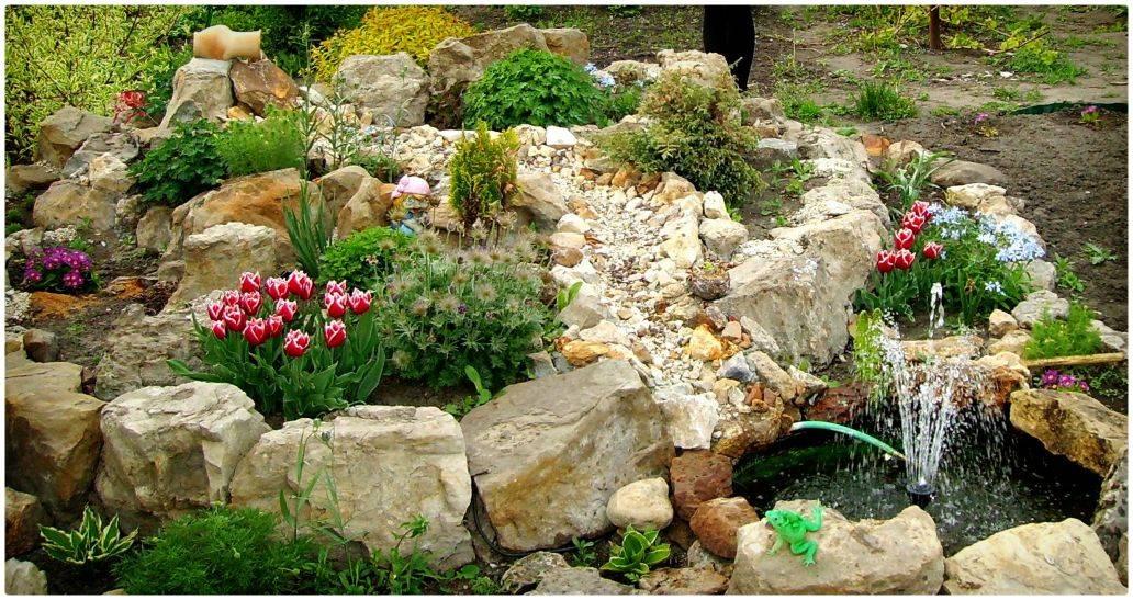 Где взять камни для альпийской горки и отделки клумб