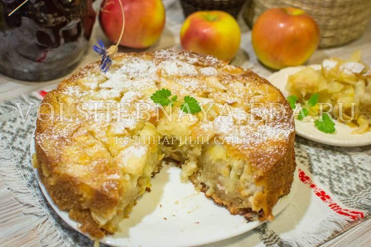 Рецепты шарлотки на кефире с яблоками