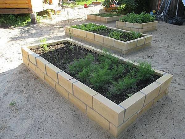 Высокие грядки схема постройки. отличный урожай с минимальными затратами — высокие грядки. возведение кирпичной грядки на фундаменте