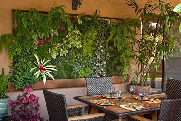Озеленение дома: живые стены и композиции из мхов