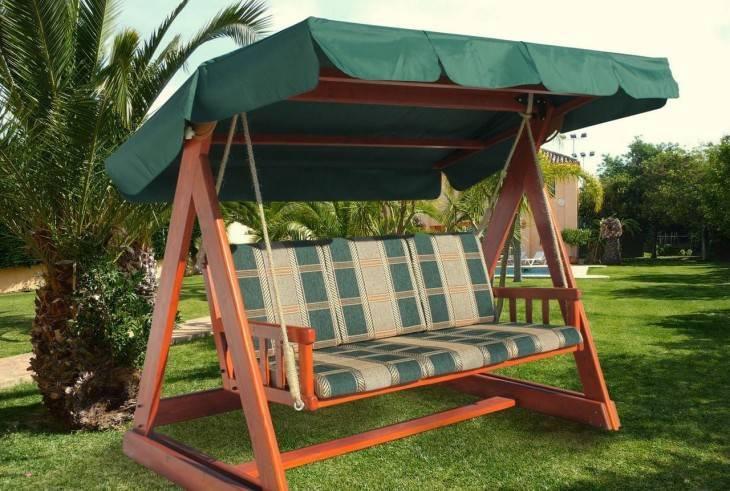 Садовые качели: советы по выбору дизайна, конструкций и варианты постройки (125 фото и видео)