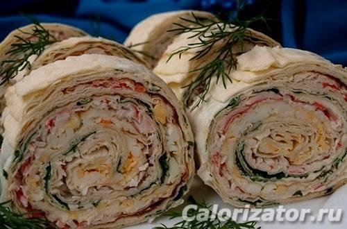 Рулет из лаваша: простые, вкусные, и доступные рецепты с фото