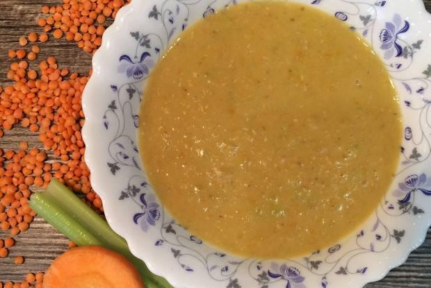 Турецкий чечевичный суп пюре