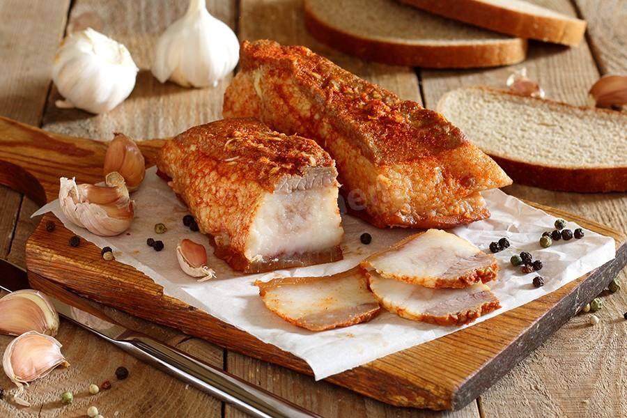 Рецепт сала в луковой шелухе, приготовление вкусной закуски