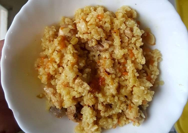 Рецепт булгур с овощами и мясом. калорийность, химический состав и пищевая ценность.