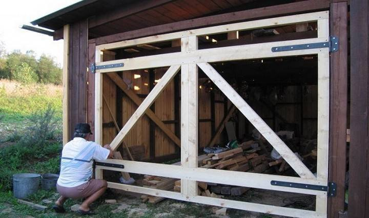Гаражные ворота своими руками: подробная инструкция по изготовлению и некоторые секреты защиты от взлома
