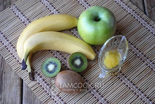 Смузи яблоко киви банан