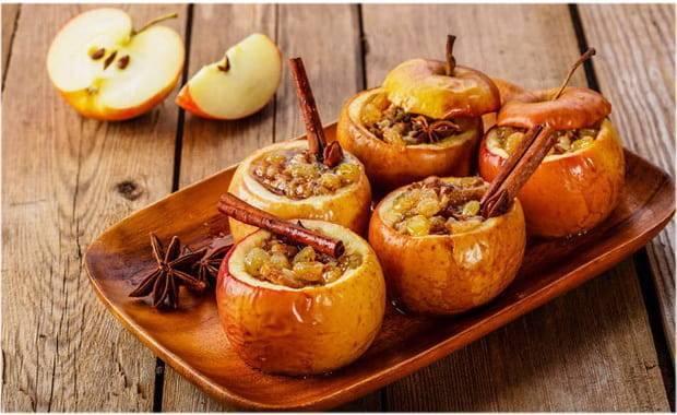 Печеные яблоки в духовке: вкусные рецепты